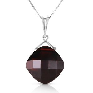 NECKLACE WITH NATURAL CHECKERBOARD CUT GARNET